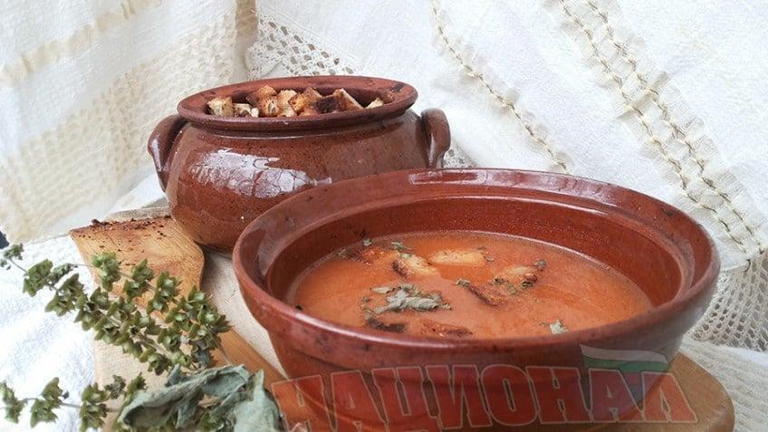 Крем супа с печени чушки