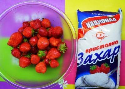 Ягоди поръсени със захар